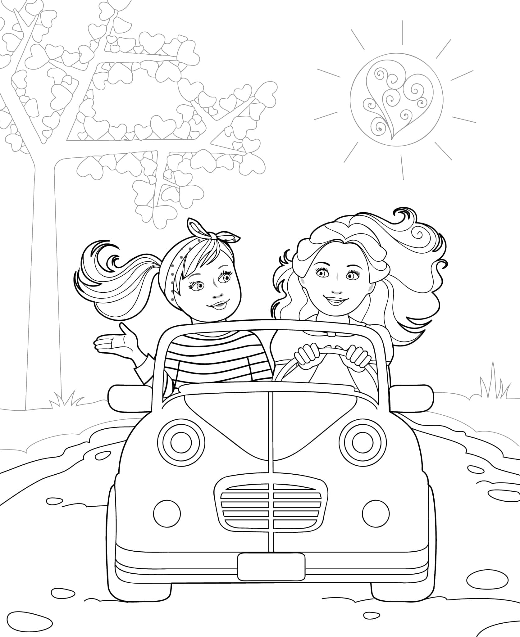 Zoom Zooms Coloring Pages