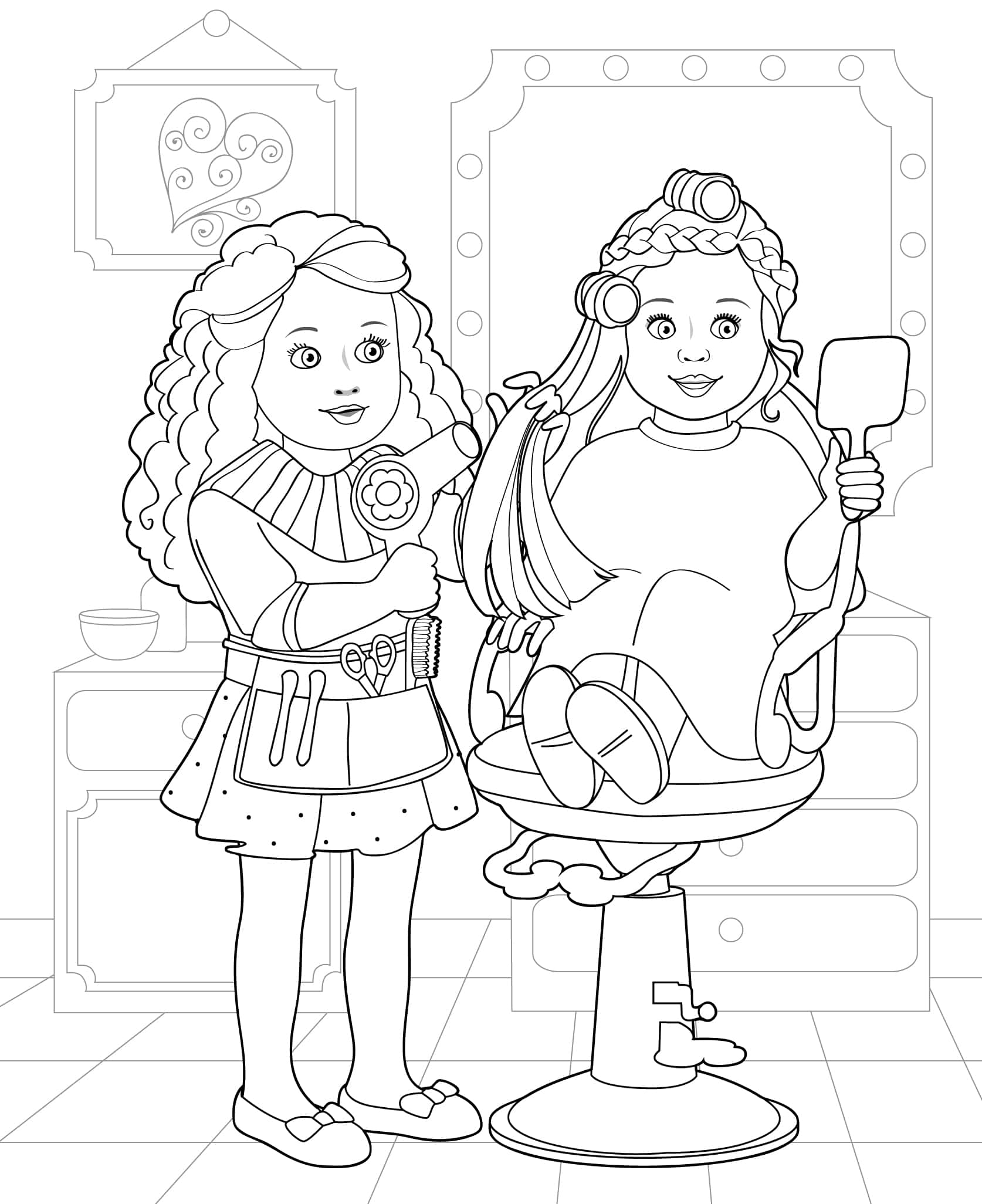 Hair salon coloring pages ~ My Life Doll Coloring Pages Coloring Pages